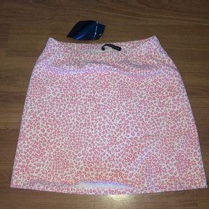 brandy melville pink cheetah skirt